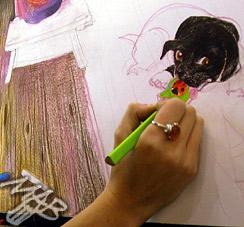 The Defense of Coloured Pencils for the benefit of Helping Paws