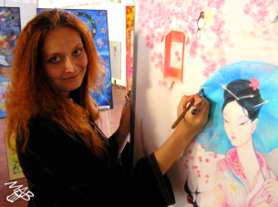 Marie Brozova drawing Sakura Princess