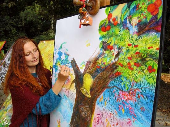 Photo album of the public drawing event in Stromovka and Klaster Hradiste nad Jizerou