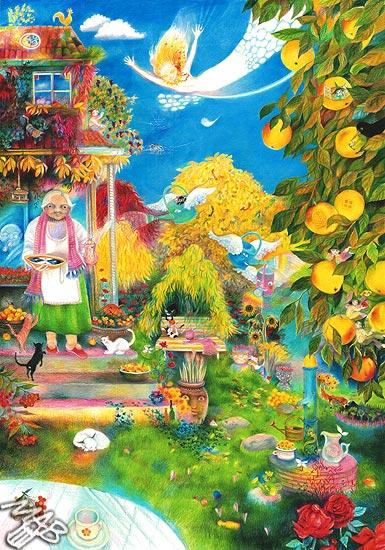 Granny S Garden The Colored Pencils Com