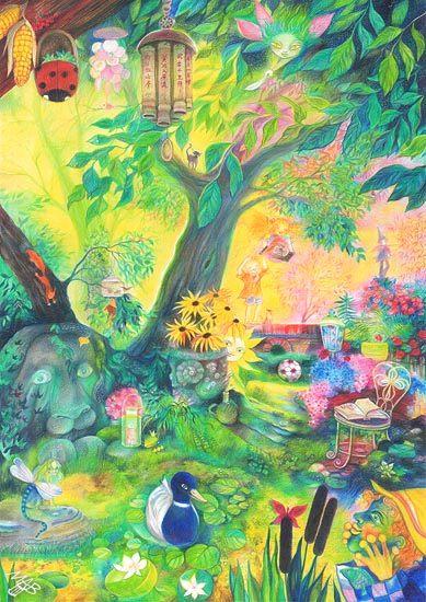 Playful Garden The Colored Pencils Com